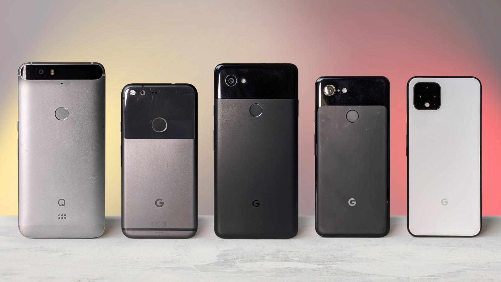 Google Pixel evolution from Nexus 6P to the Pixel 4