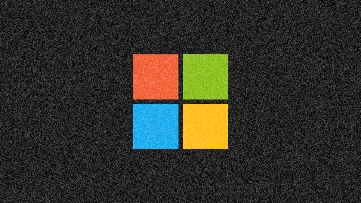A dark and staticy picture of the Windows logo.