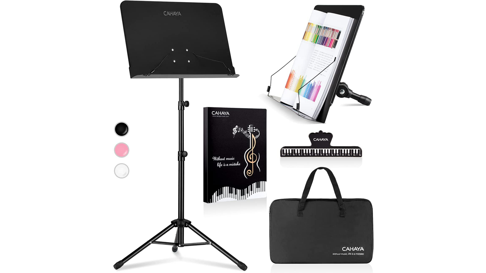 With This Portable 4-in-1 Stand, You Can Easily View Books, Sheet Music, and More