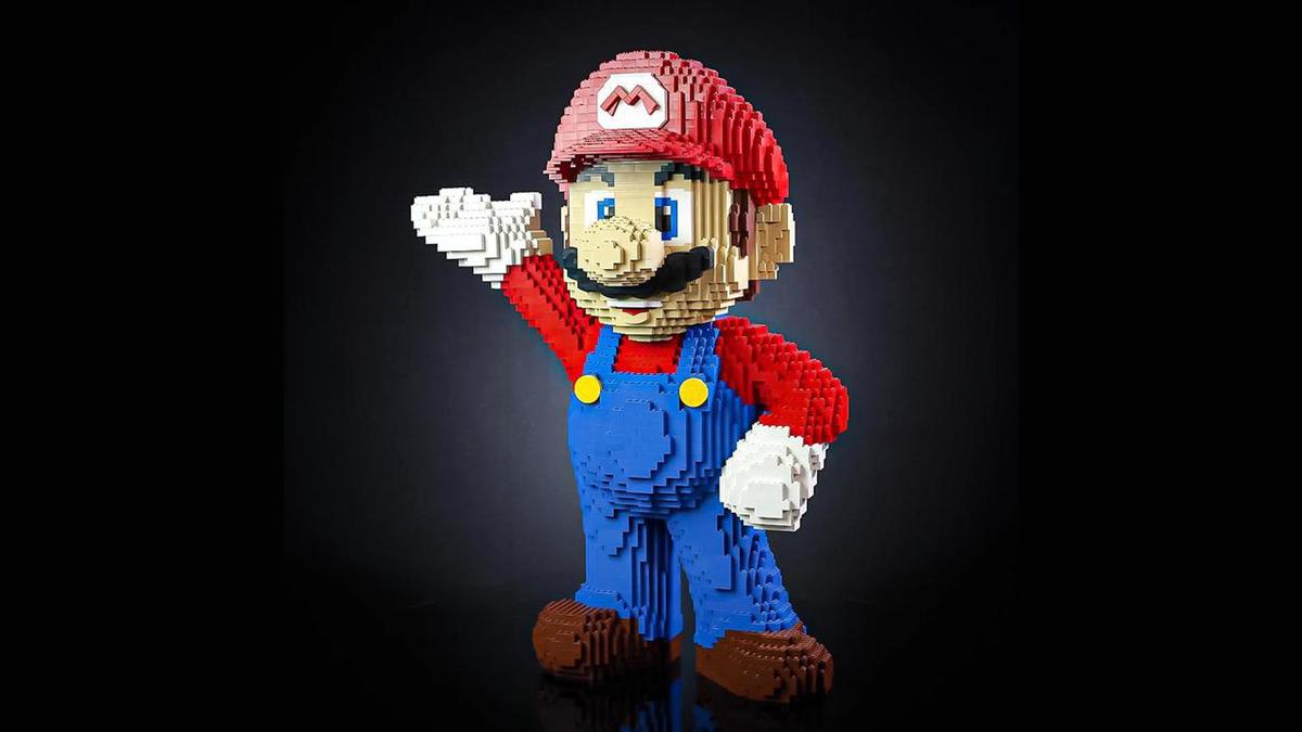 Bricker Builds LEGO Mario Life-Sized Sculpture