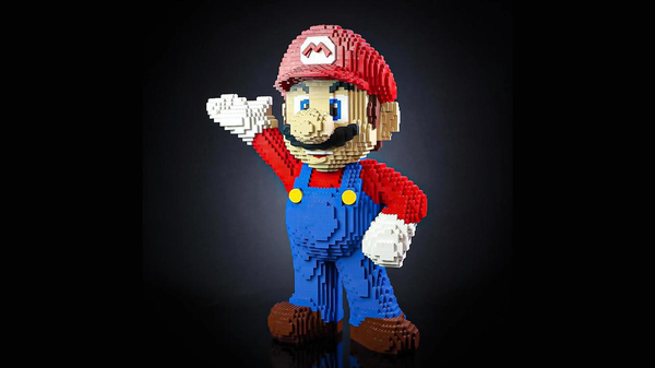 Build Your Own LEGO Super Mario Statue With This Unofficial Set