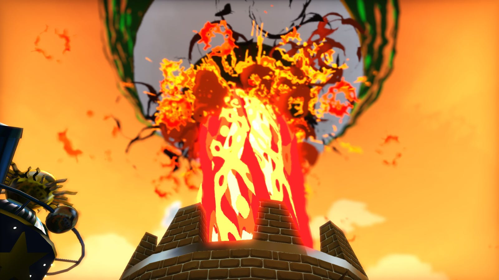 An erupting volcano from 'A Hat in Time'