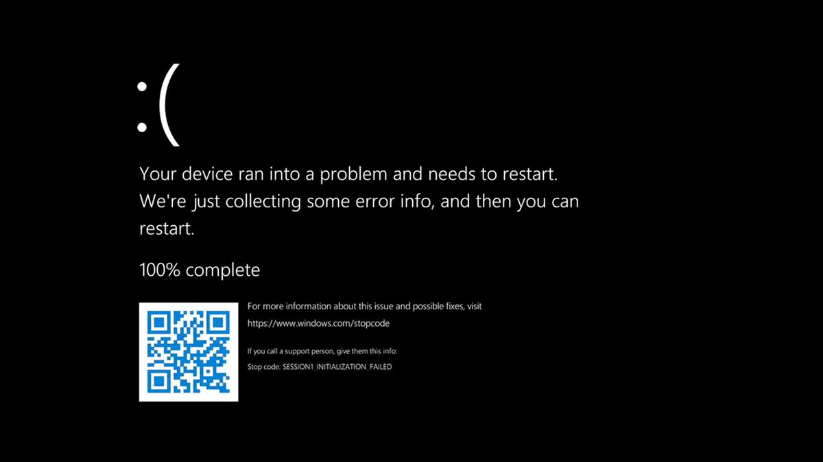 The BSOD in Windows 11.