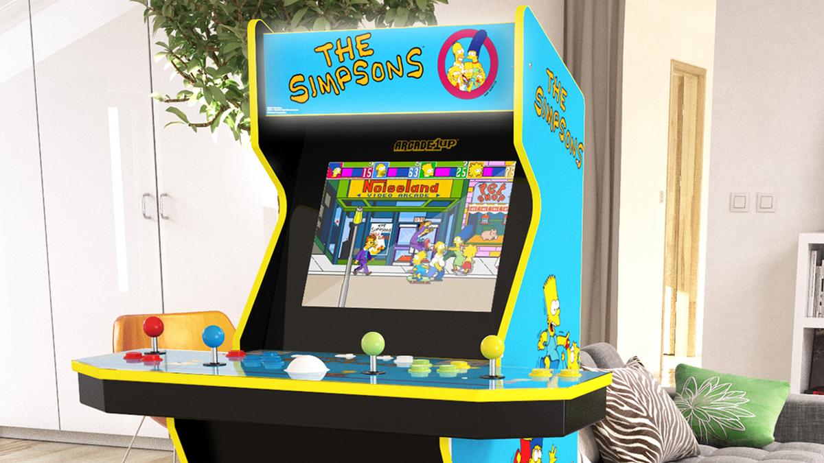 A Simpsons Arcade machine
