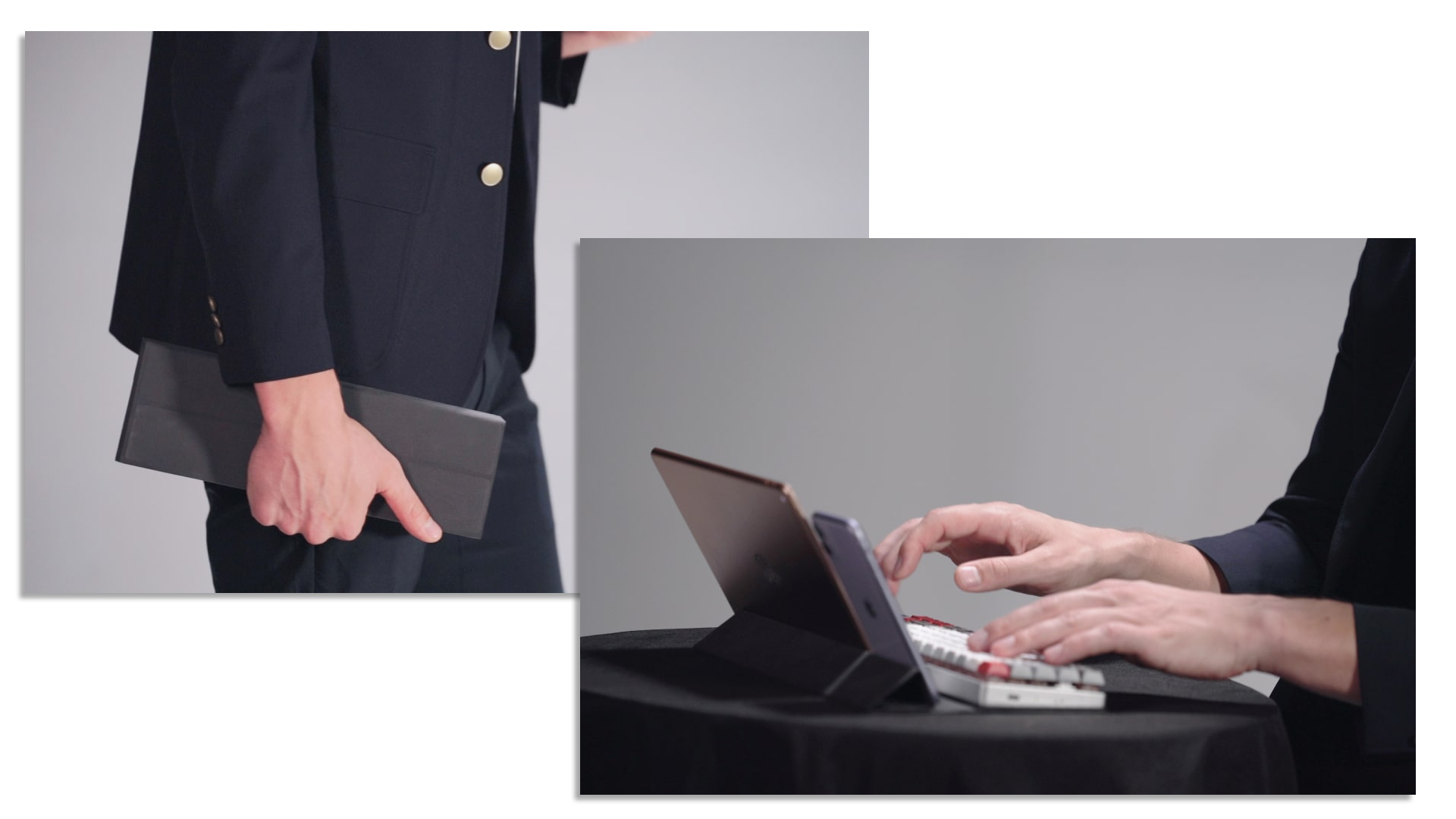 The Epomaker NT68 mechanical keyboard's integrated carrying case