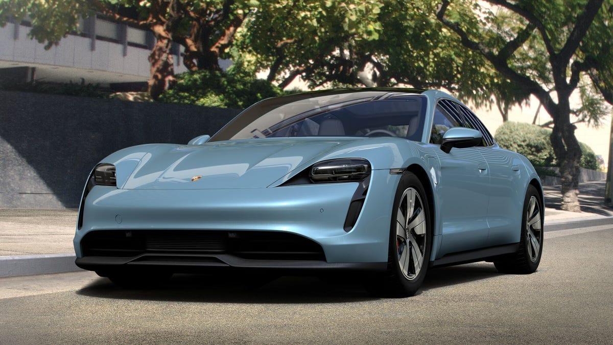 Porsche Taycan on the street