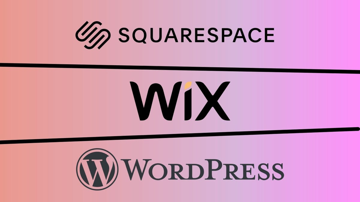best website builder featured image including squarespace wix and wordpress.org