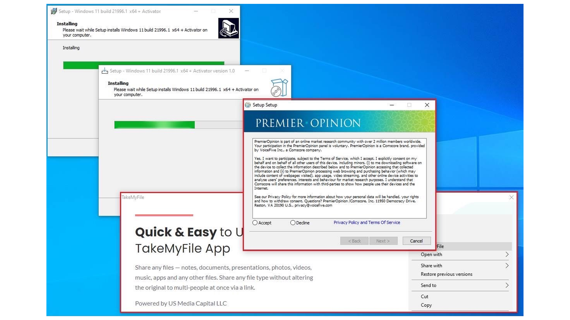 "The malicious Windows 11 ""installer."""