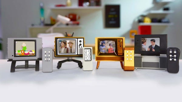 These Tiny TVs with Working Remotes Play Clips from Classic Shows