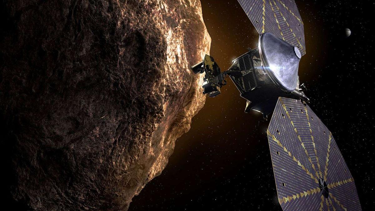 Artist's depiction of Lucy spacecraft
