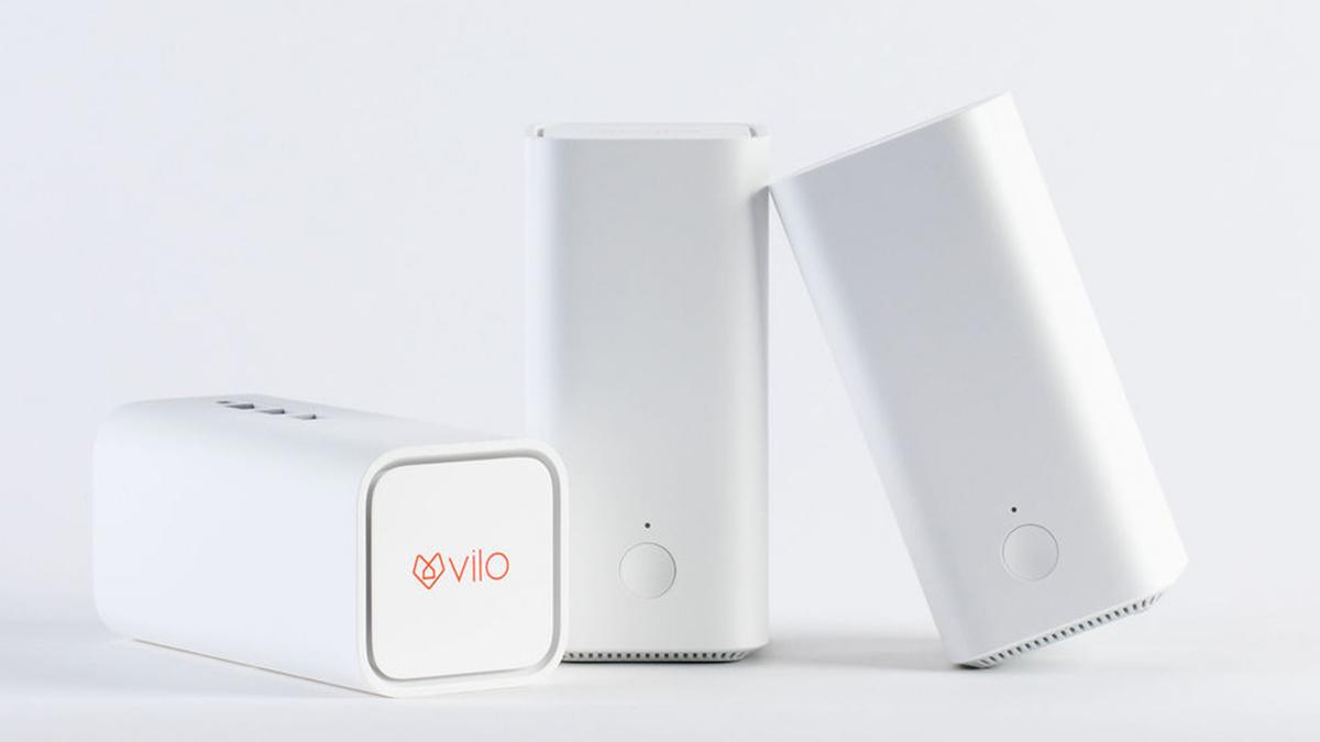 Vilo mesh Wi-Fi kits on white background.