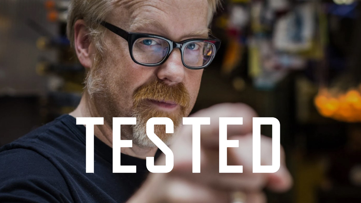 Adam Savage and the 'Tested' logo