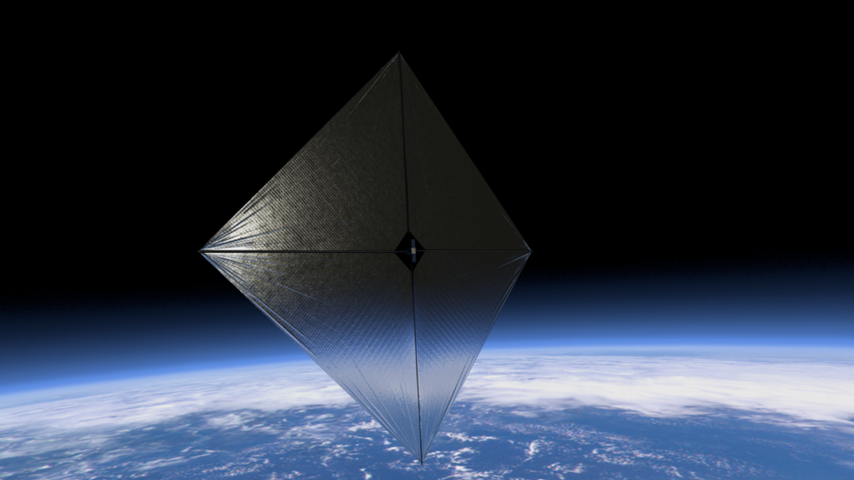 Since solar radiation pressure is small, the solar sail must be large to efficiently generate thrust