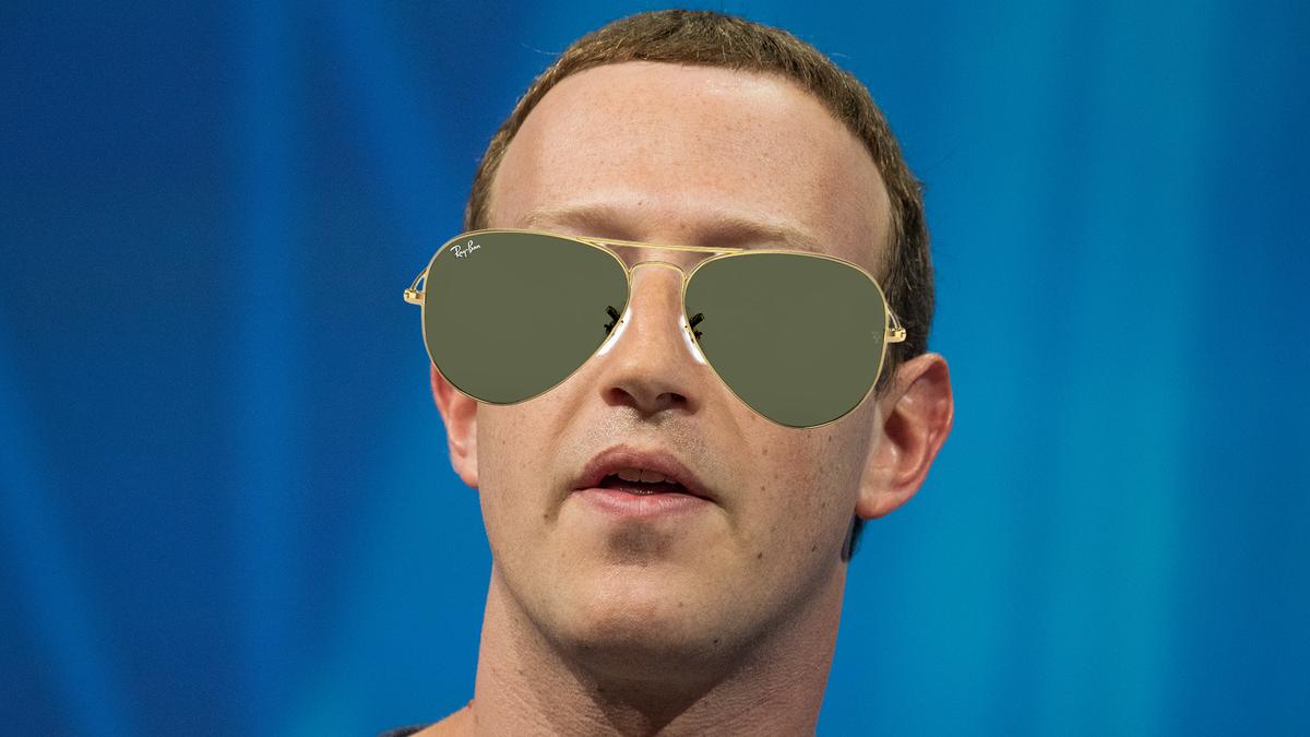 Zuckerberg in Ray-Bans.