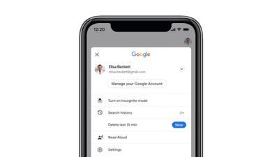 Google Search easy delete privacy feature