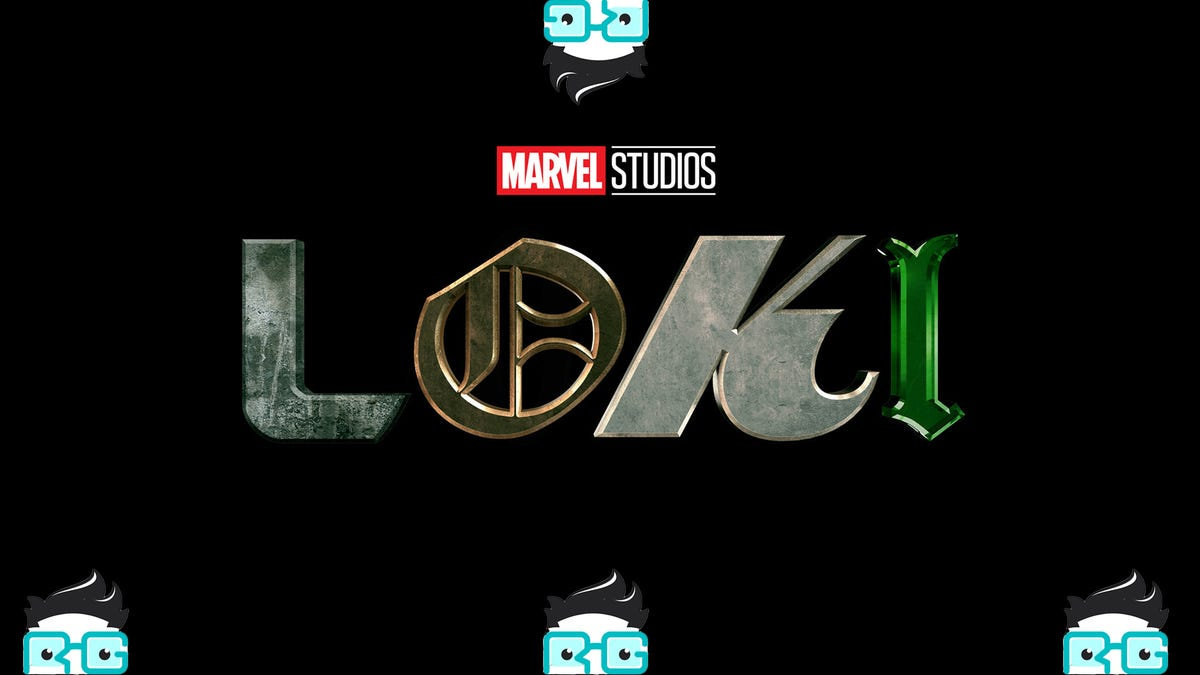 The Loki Logo surrounded by four Review Geek logos
