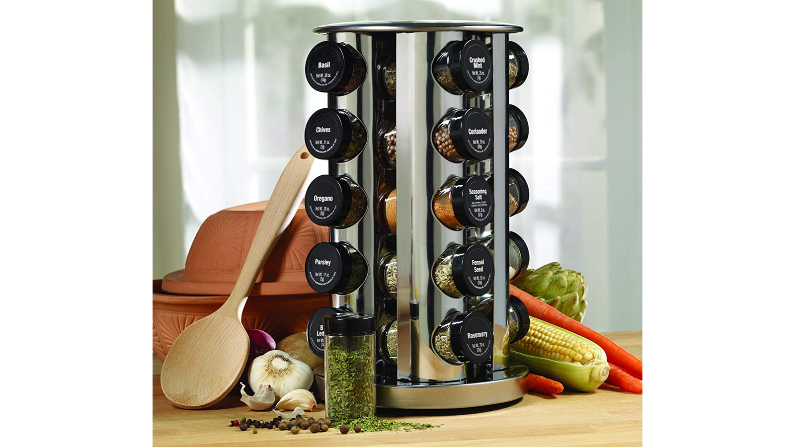 Spice Up Your Kitchen (and Your Cooking) with This Revolving Spice Rack Tower