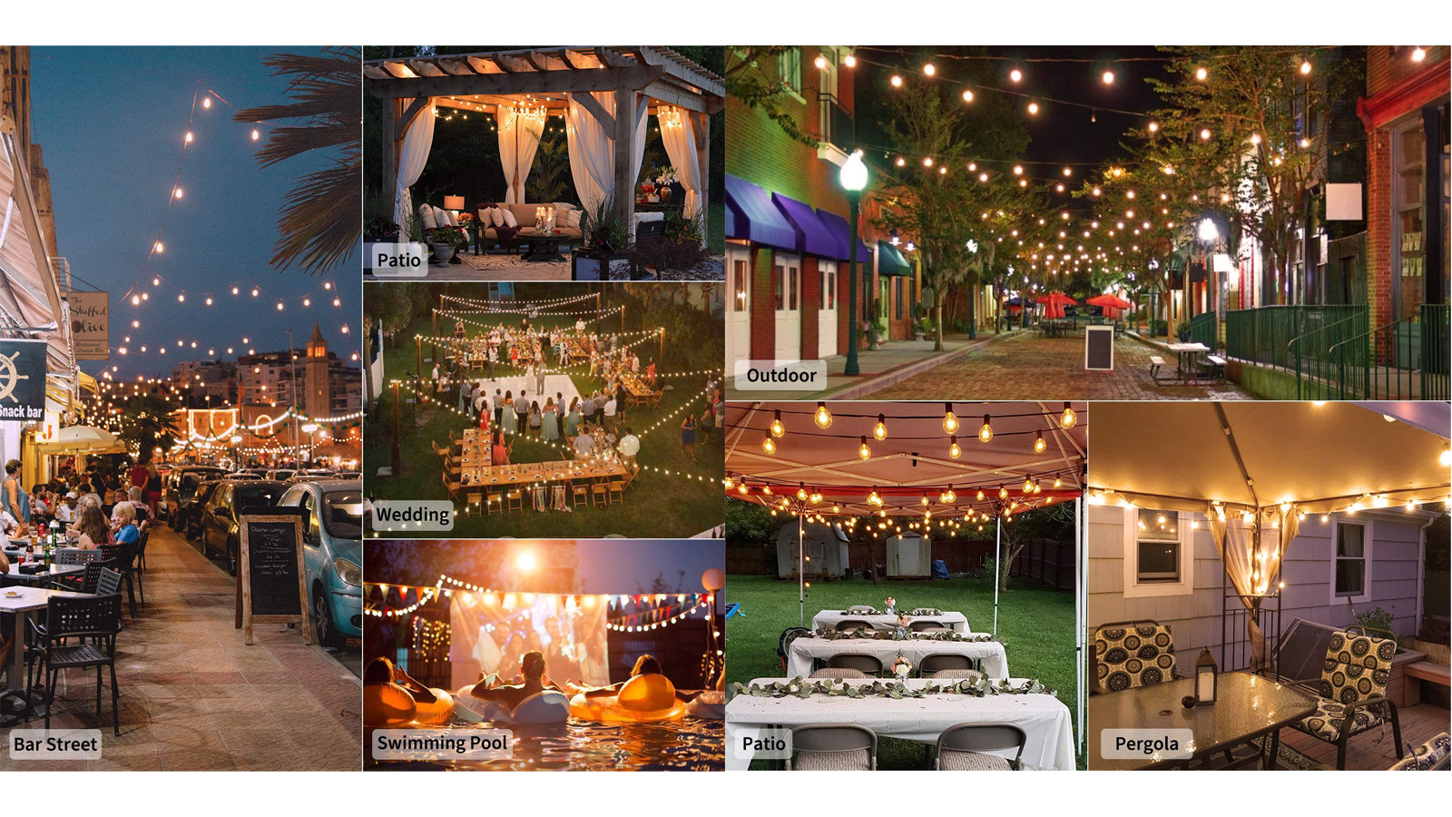 Let These Outdoor Patio String Lights Help Set the Scene for Backyard Fun