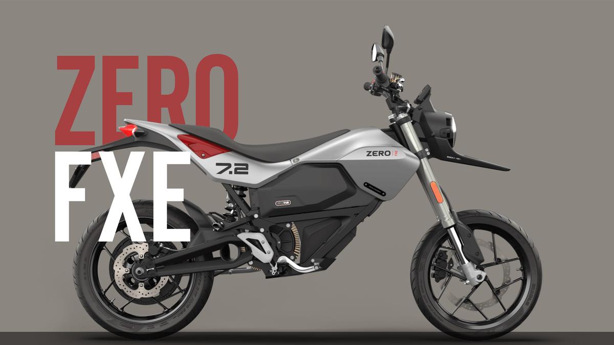 Zero's FXE electric motorcycle.