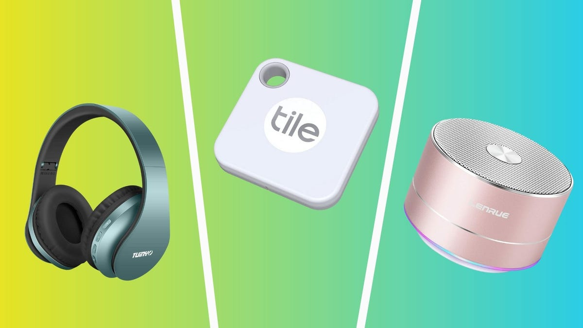the best tech under 25 dollars including tuinyo headphones tile mate tracker and lenrue bluetooth speaker