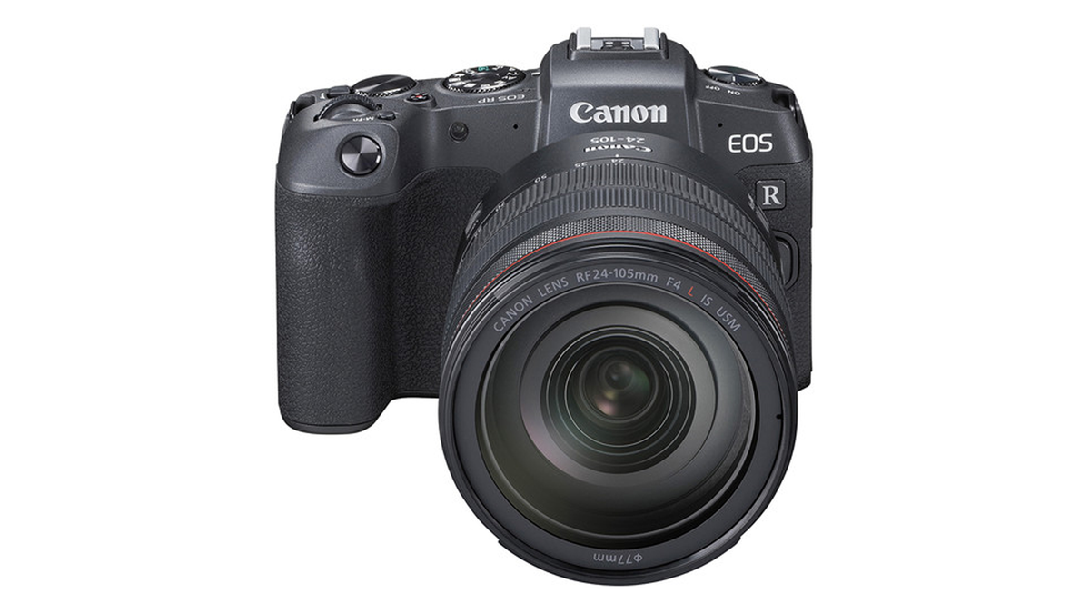 A photo of the discontinued Canon EOS RP.