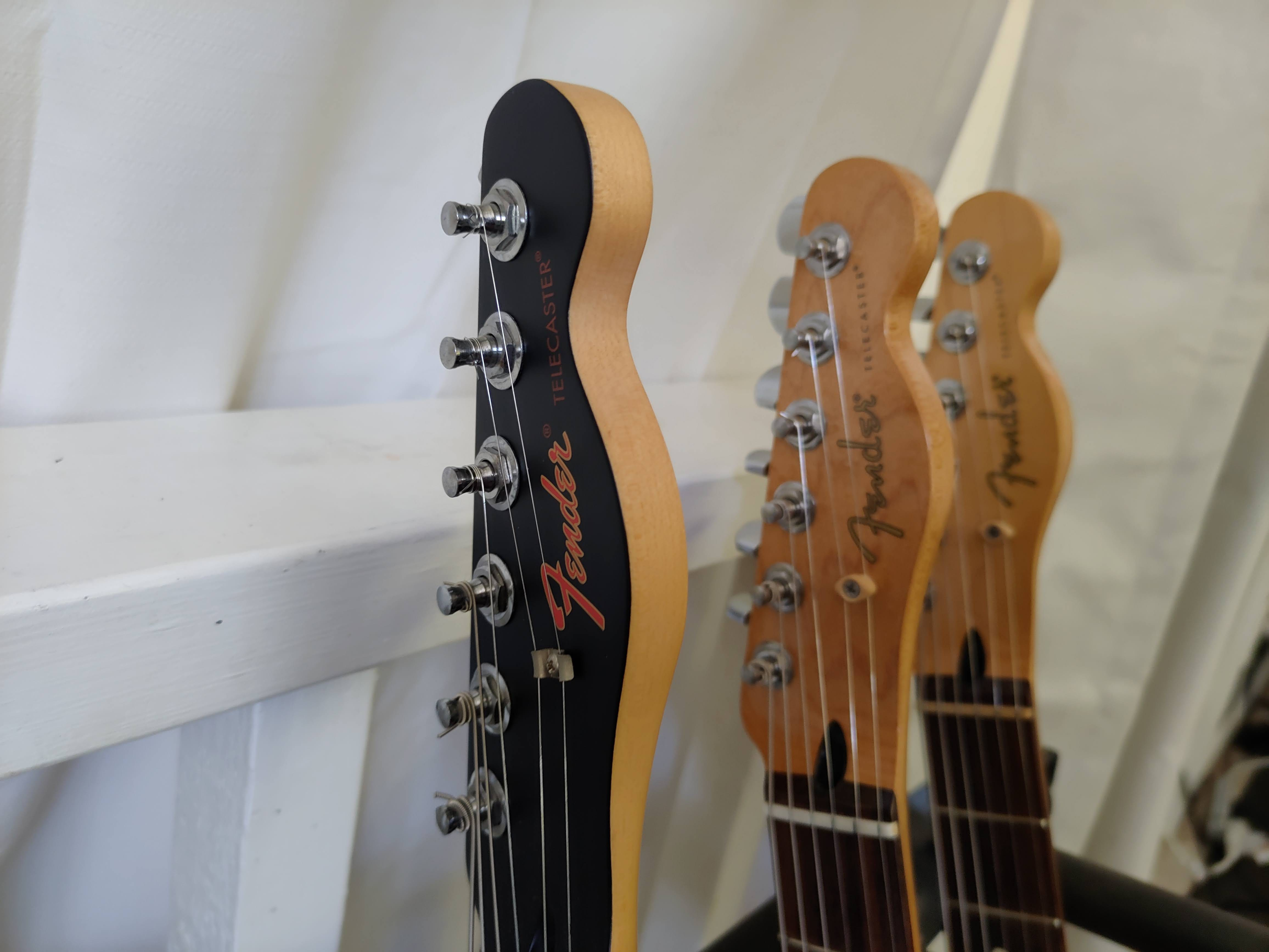 A camera sample with the Red Magic 6R. An indoor sample with guitar headstocks.