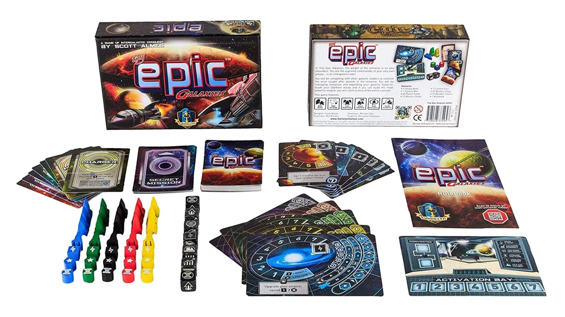 tiny epic galaxy card board game