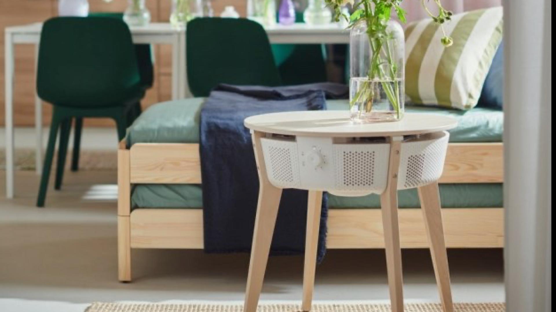 ikea air purifier table