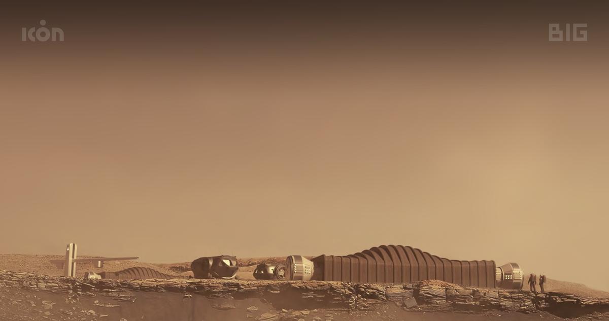 A dramatization of a Mars habitat
