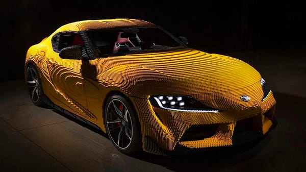 This Life-Sized Electric LEGO Toyota Supra Goes 0-17 MPH