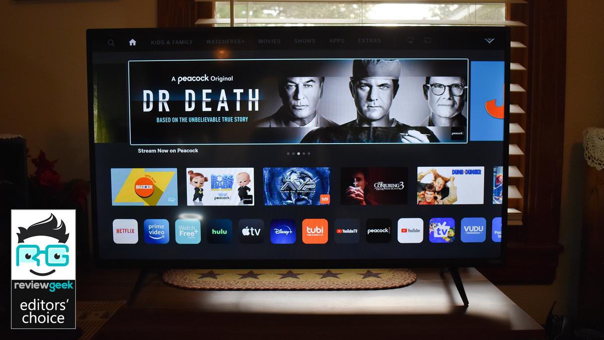 The Vizio TV's SmartCast homescreen.