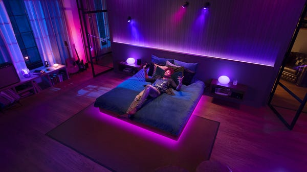 Bathe Your Whole Home in Color with Philips Hue's Latest Gradient Smart Lights