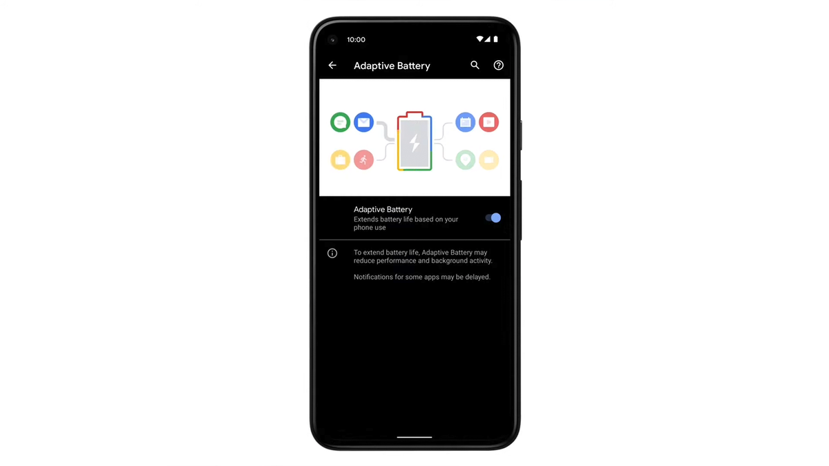Adaptive Charging menu on a Pixel phone.