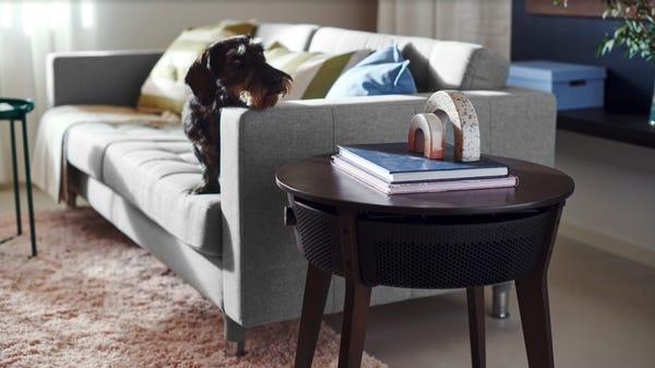 IKEA's First Smart Air Purifier Hides Inside an End Table