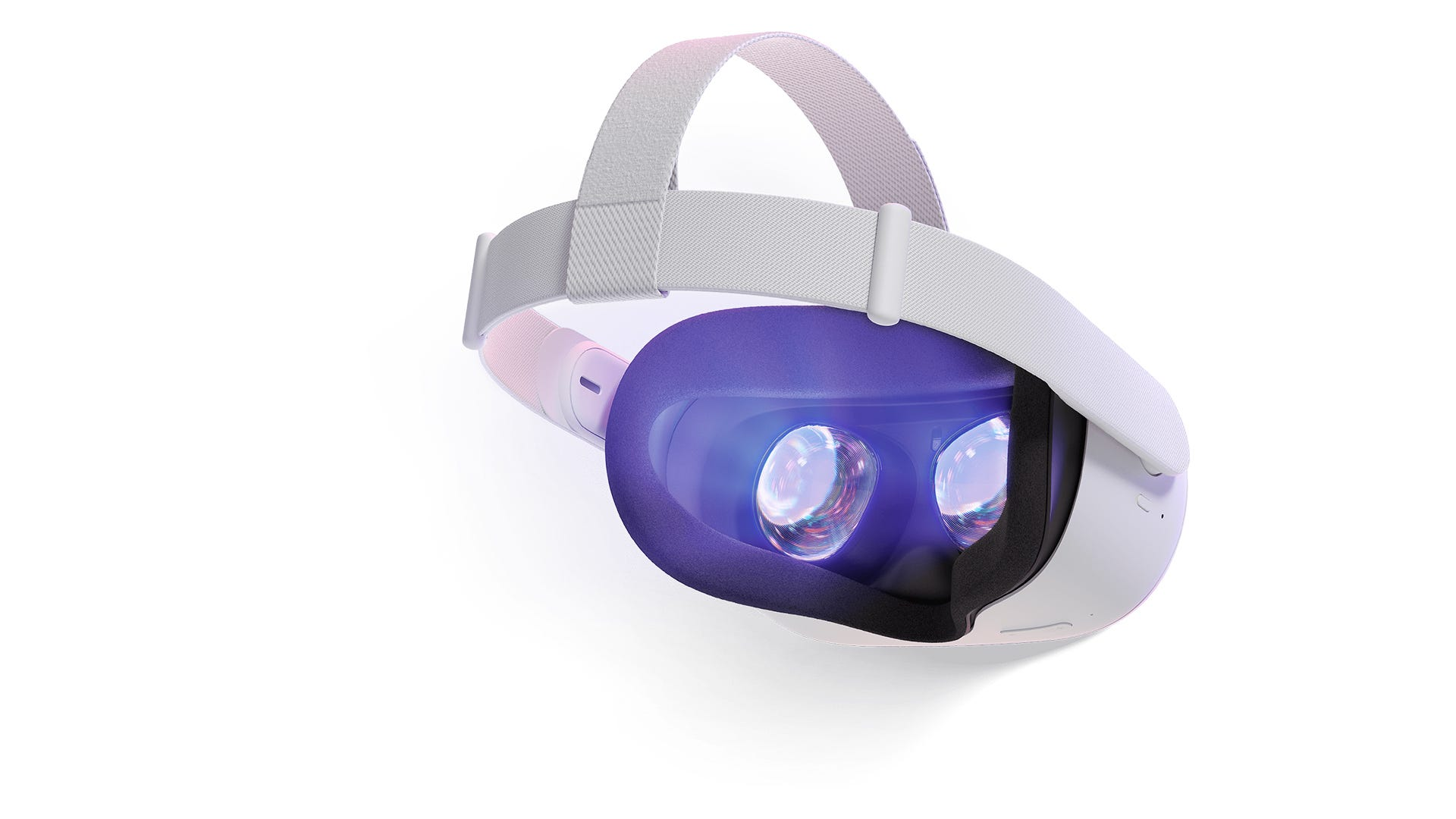 The inside of an Oculus Quest 2 showing the lenses