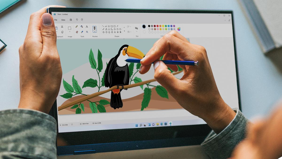 MS Paint running in Windows 11