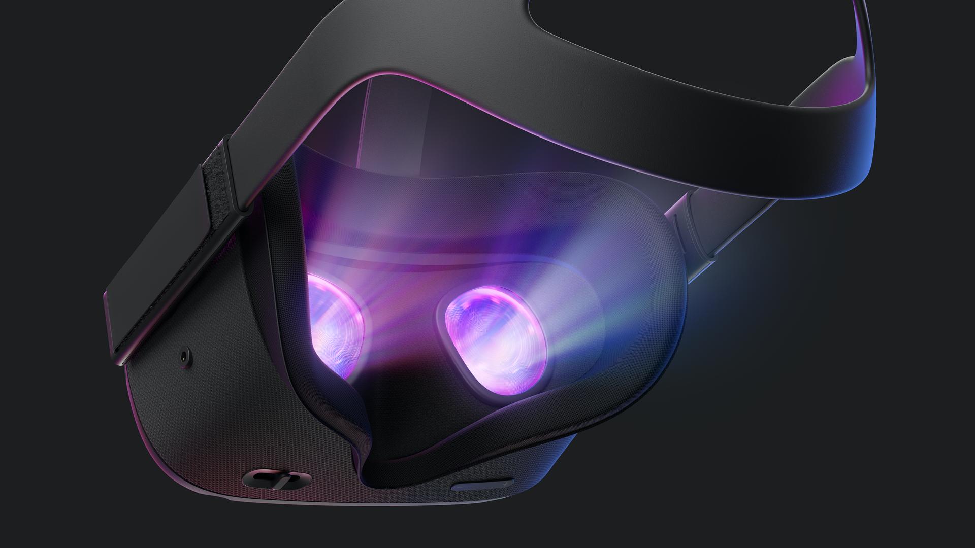 An original Oculus Quest on a dark background