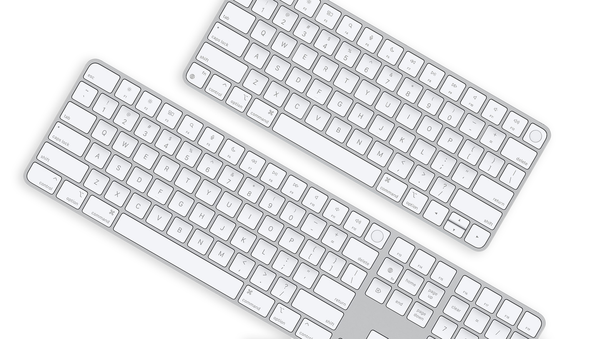 The Magic Keyboard with Touch ID.