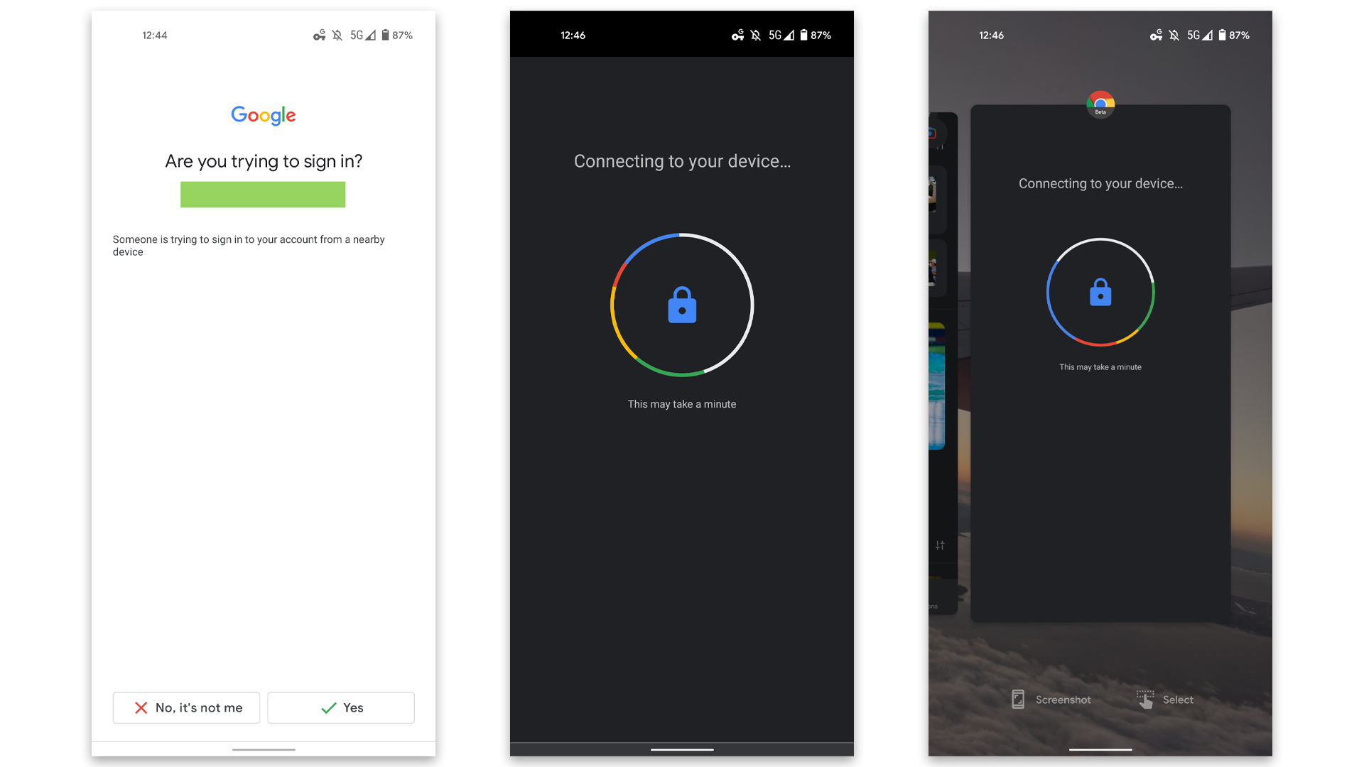 An Android phone using Chrome for 2FA/2SA.
