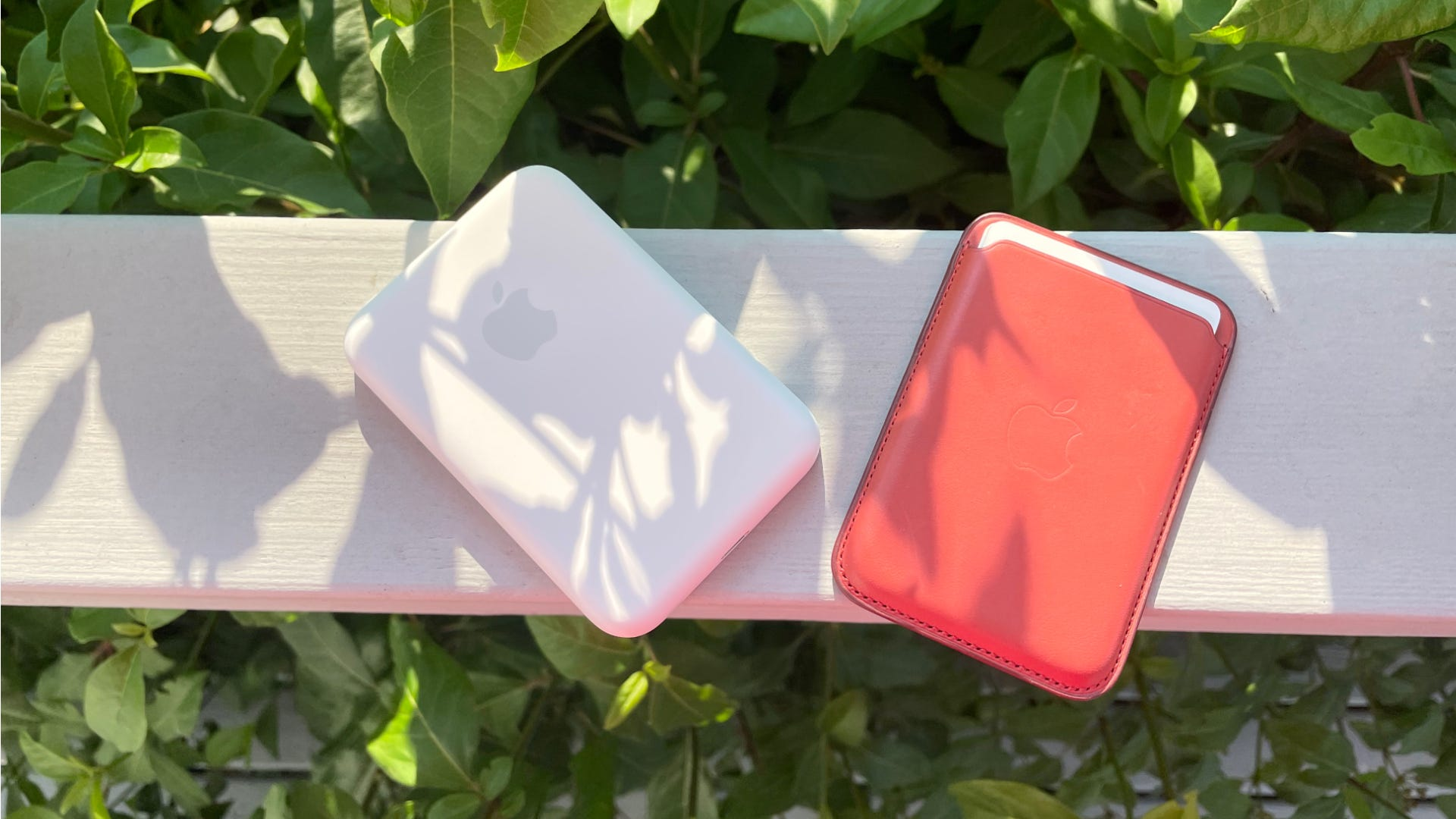 A MagSafe Battery Pac and MagSafe wallet.