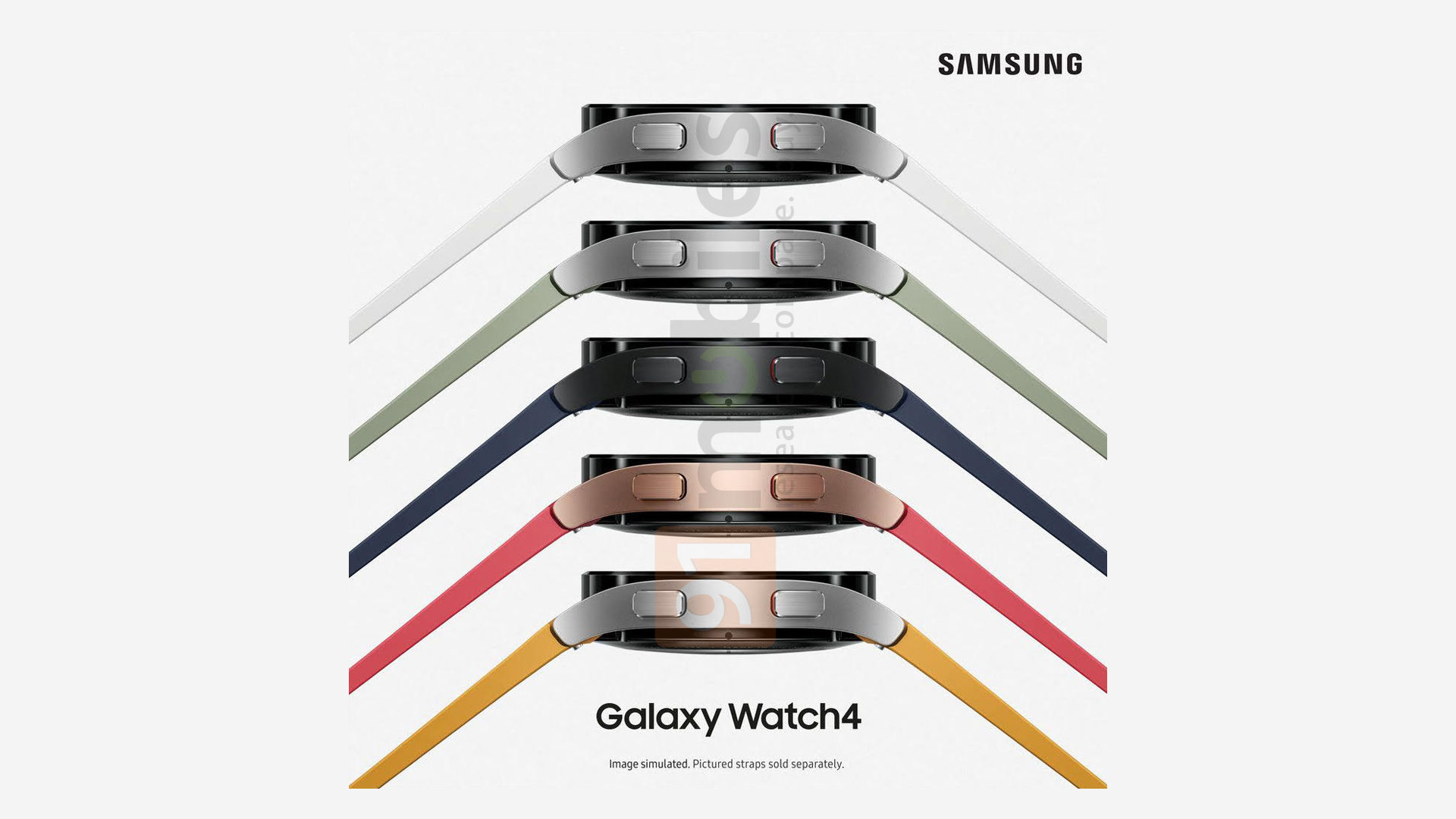 A leaked poster of the Galaxy Watch 4