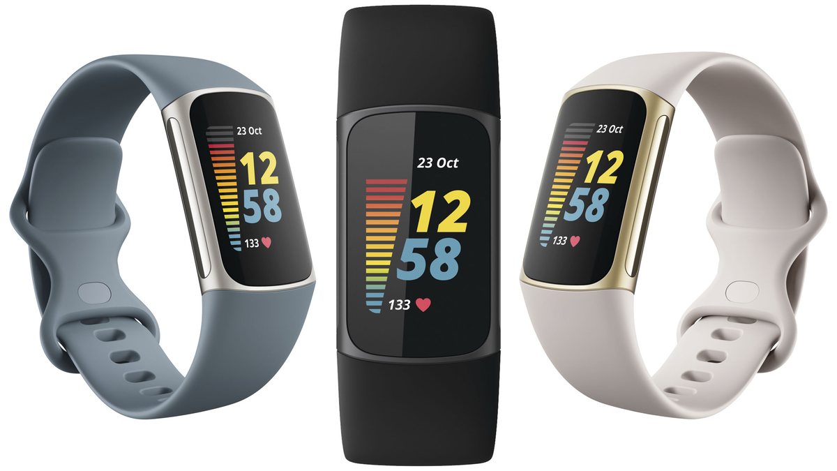 Leaked renders of the Fitbit Charge 5 in three color options