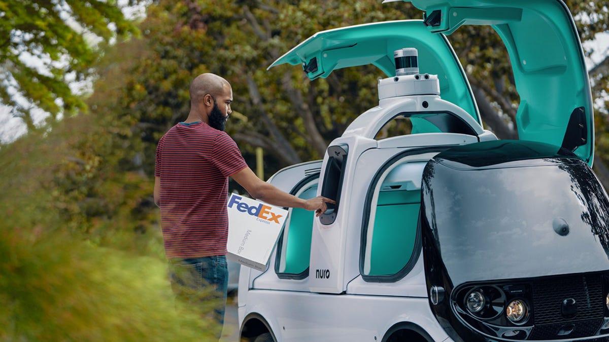Nuro FedEx Delivery Vehicle