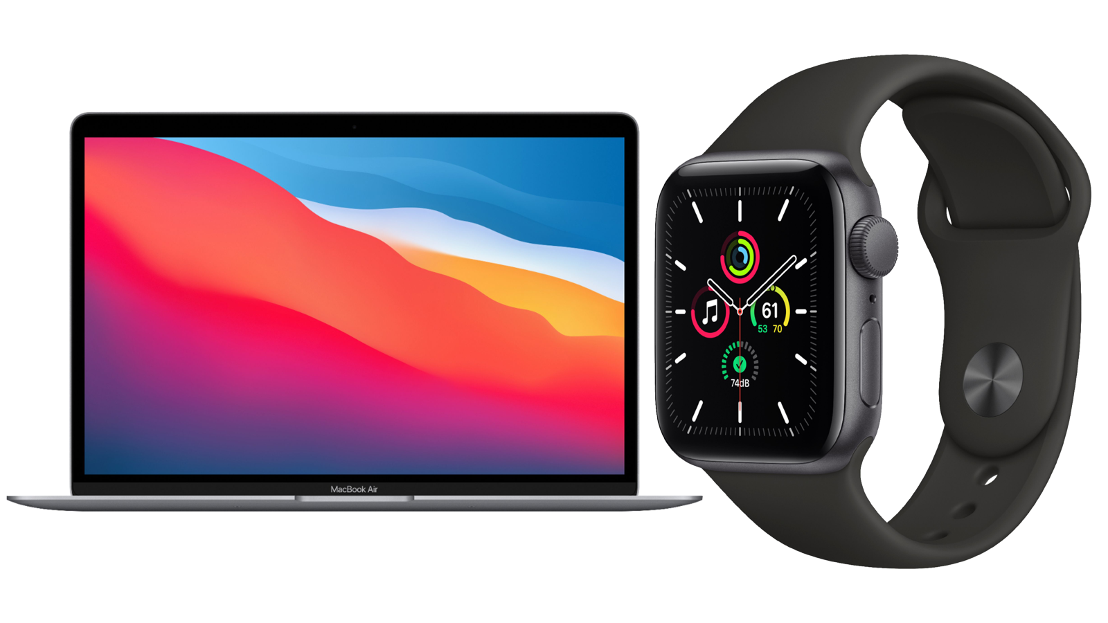 """MacBook Air 13.3"""" and Apple Watch SE 40mm"""