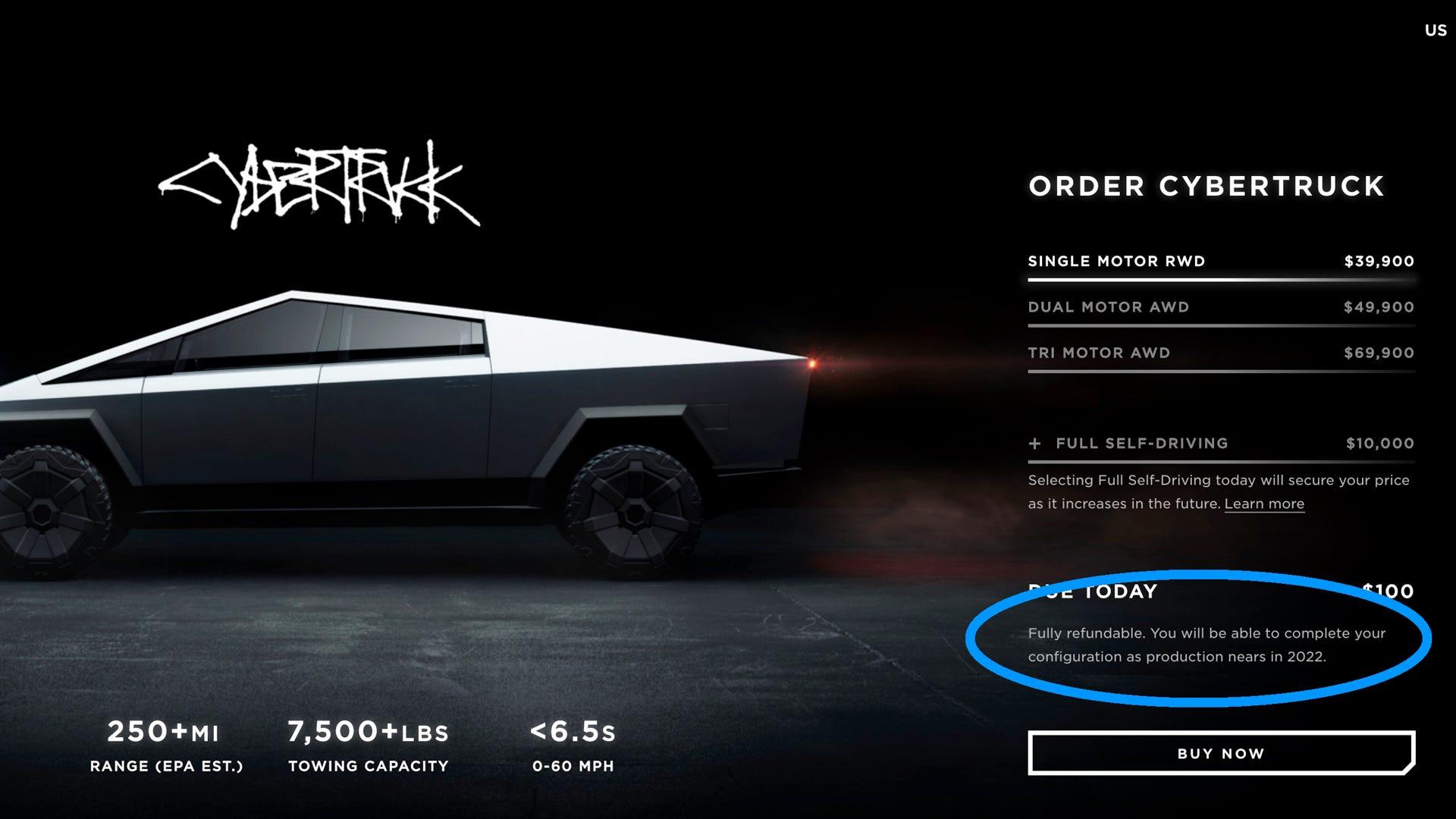 Tesla Cybertruck delayed