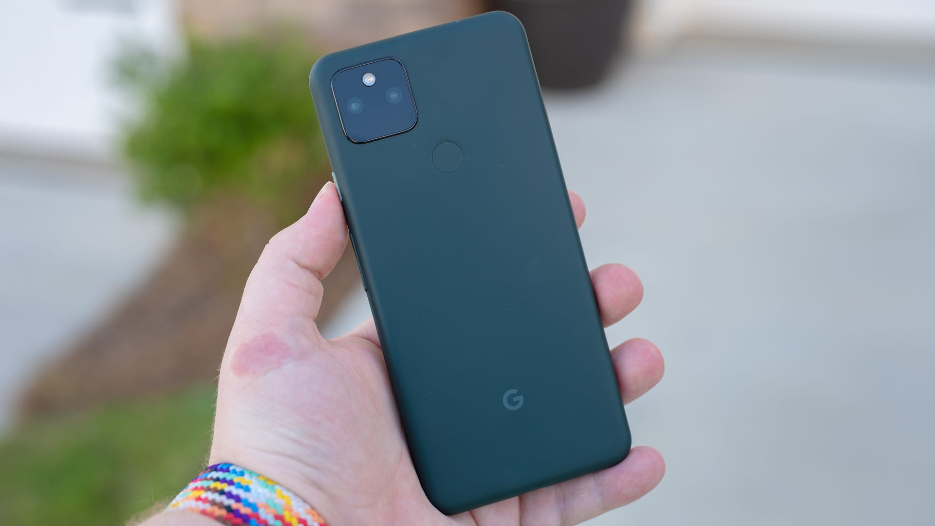 The back of the Pixel 5a