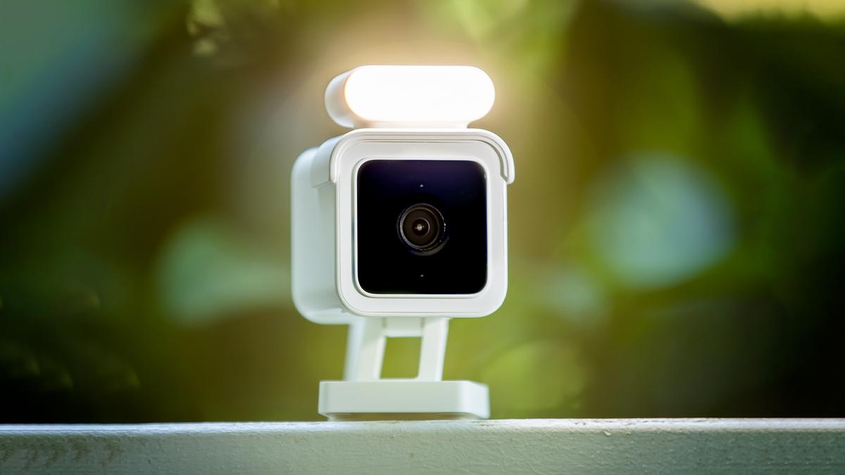The Wyze Cam Spotlight, an indoor/outdoor security camera with a motion-sensing spotlight.