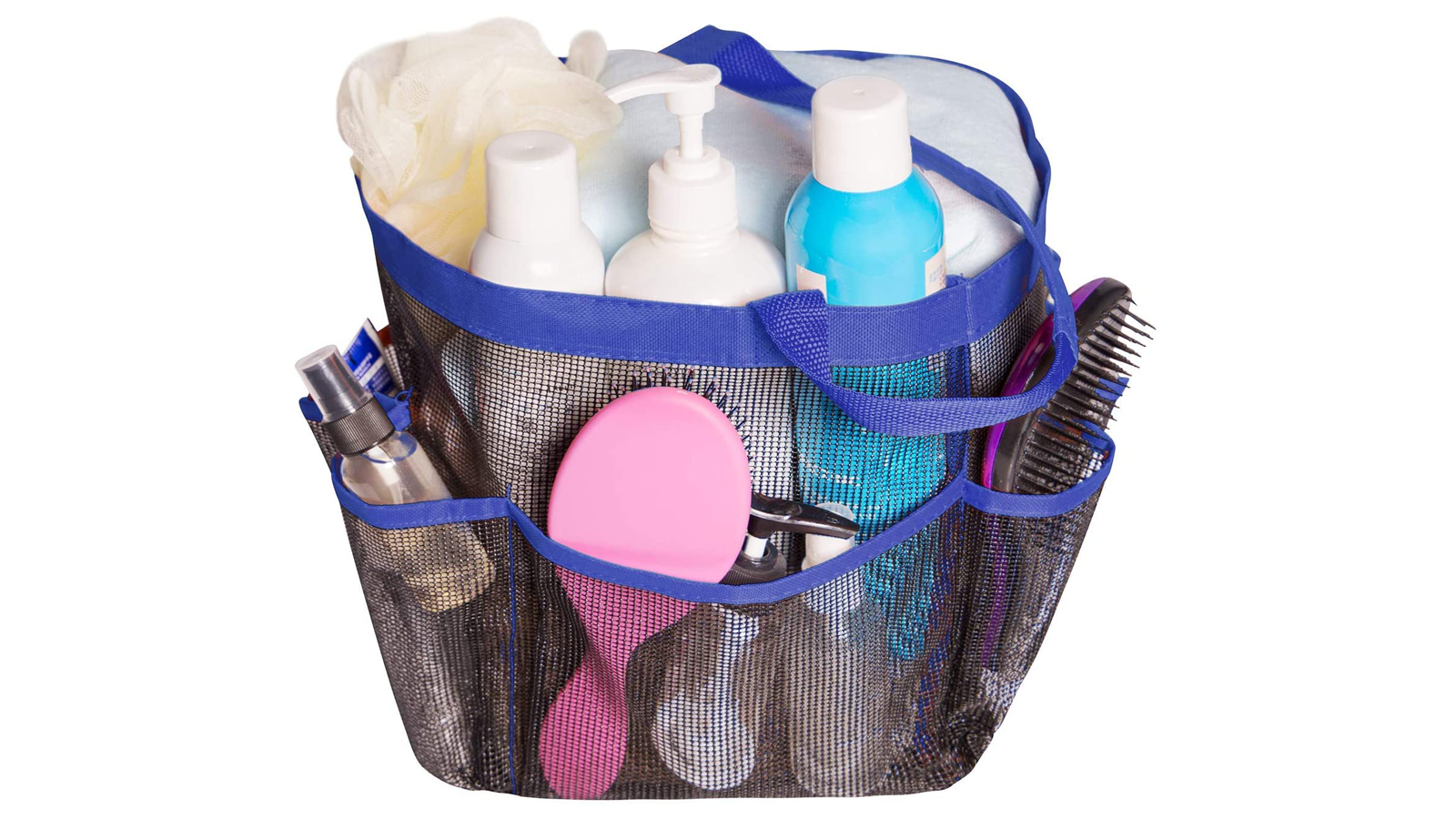 Keep Your Toiletries at the Ready with This Portable Mesh Shower Caddy