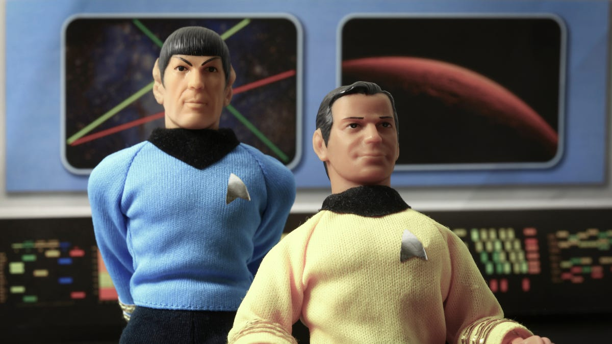 Characters from 'Star Trek' in doll folrm