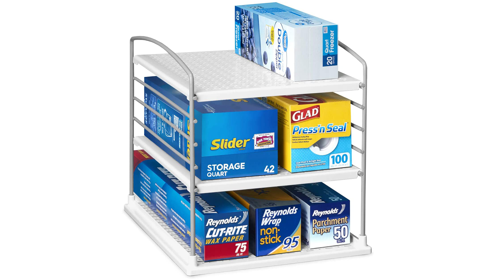 Keep Bags and Other Goods in Your Pantry Tidy with This Box Organizer